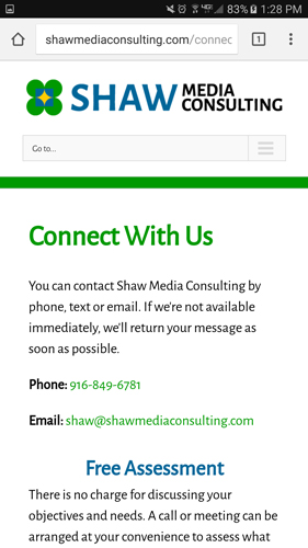 Shaw Media Consulting Website